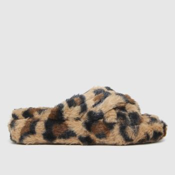 schuh Brown & Black Honest Slipper Girls Junior