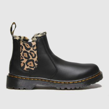 Dr Martens Black & Brown 2976 Leonore Girls Junior