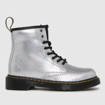 Dr Martens silver 1460 boots junior