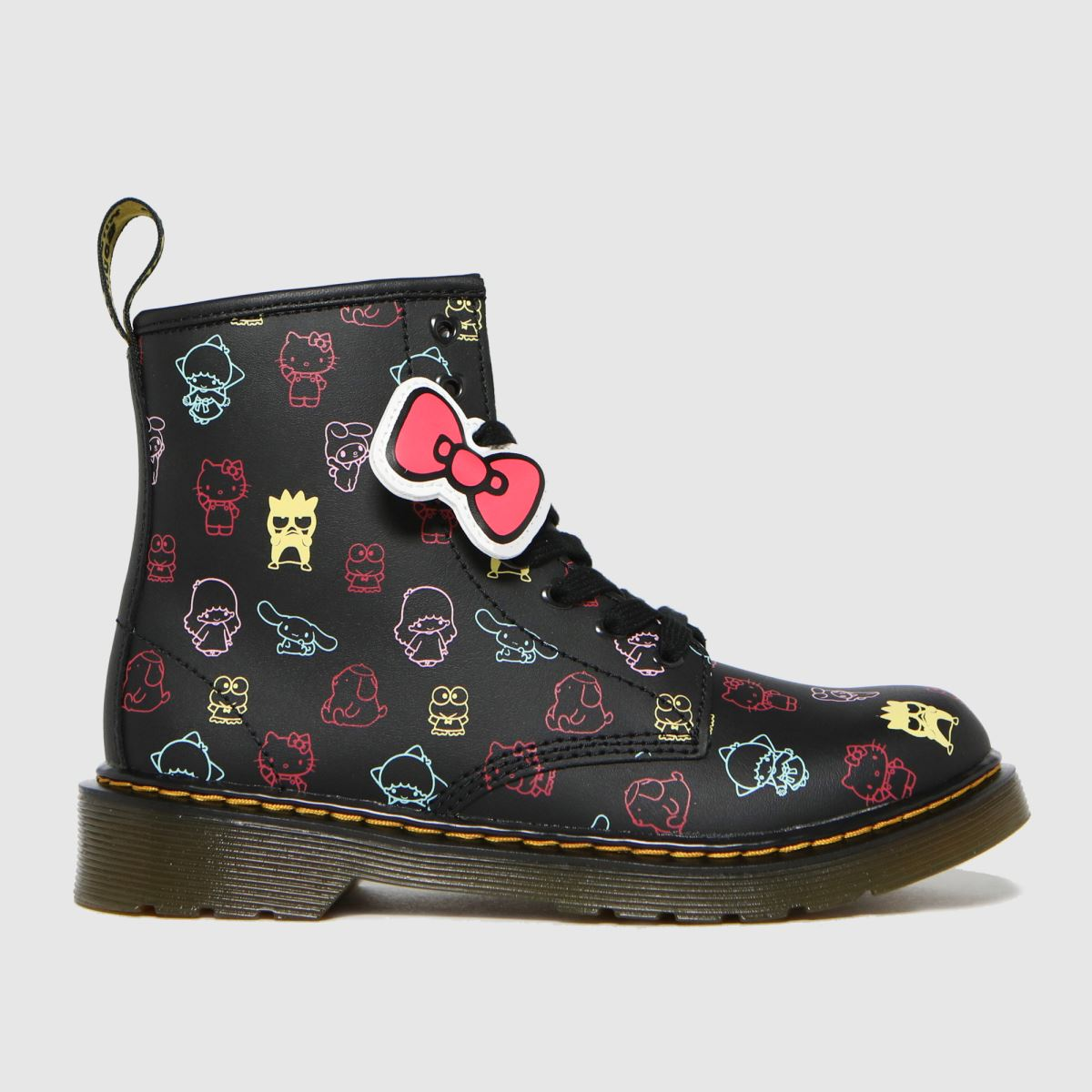Dr Martens Black & Pink 1460 Hello Kitty Boots Junior