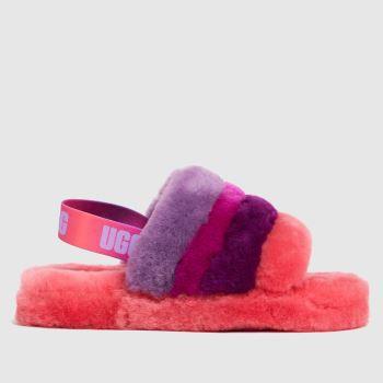 UGG Pink Fluff Yeah Slide Girls Junior