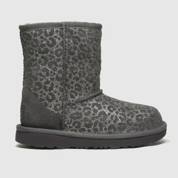 UGG Dark Grey Classic Ii Glitter Leo Girls Junior
