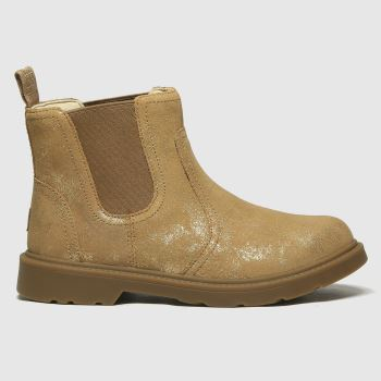 UGG Gold Bolden Metallic Girls Junior