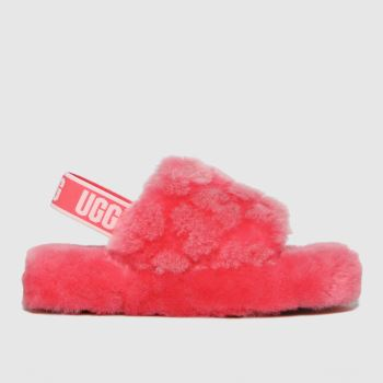 UGG Pink Fluff Yeah Poppy Girls Junior