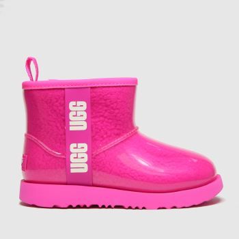 UGG Pink Classic Clear Mini Ii Girls Junior