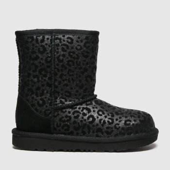 UGG Black Classic Ii Glitter Girls Junior