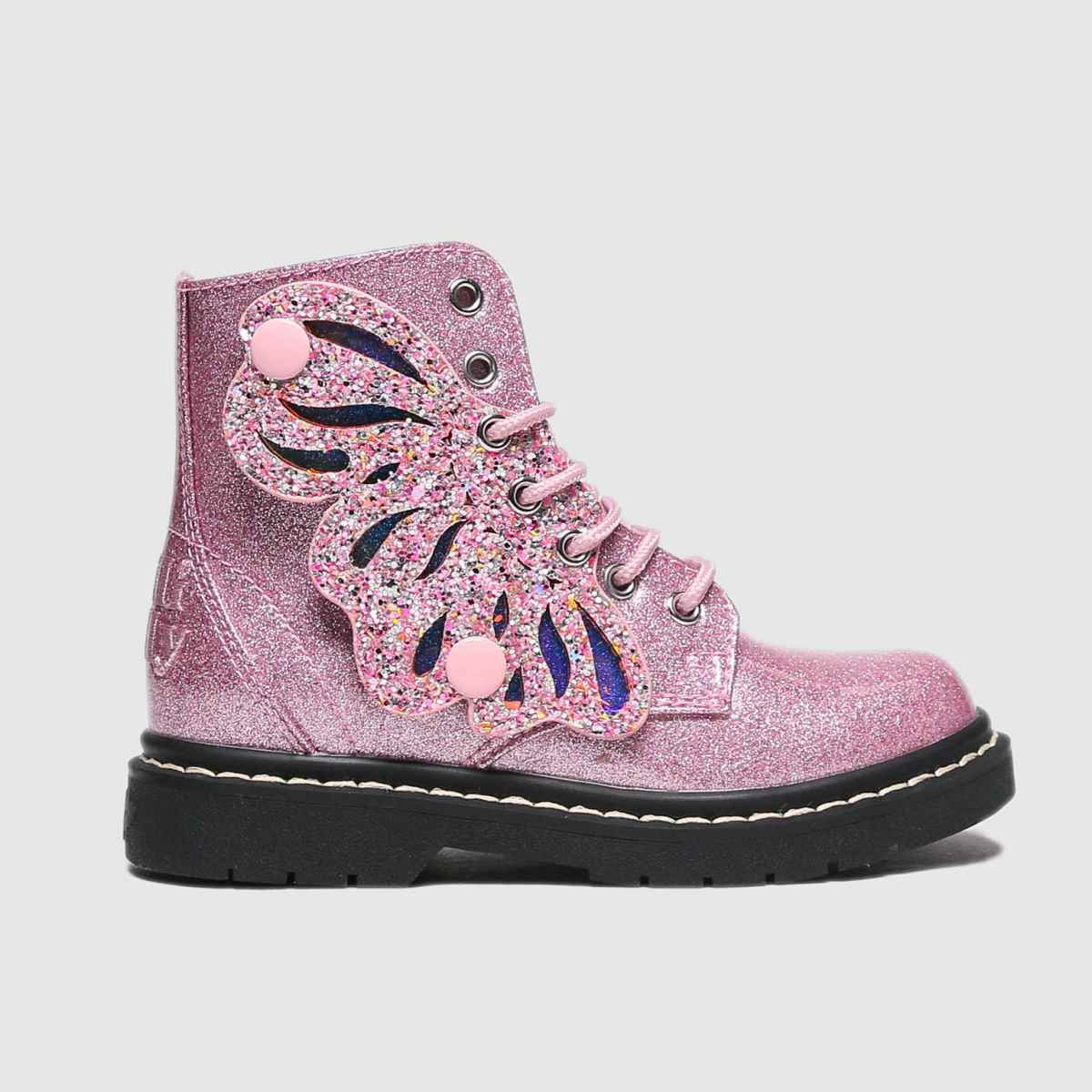 Lelli Kelly Pale Pink Fairy Wings Butterfly Boots Junior