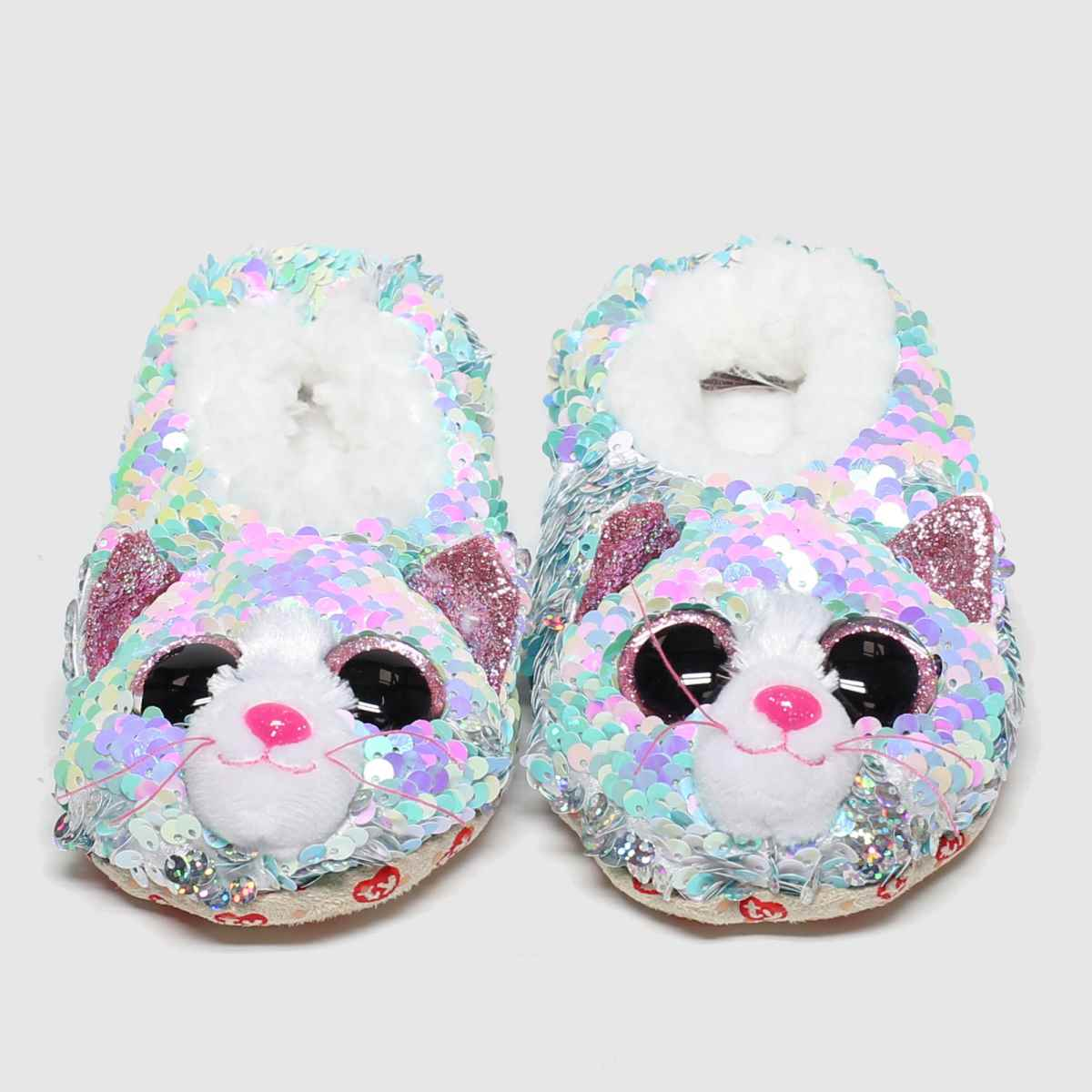 Click to view product details and reviews for Tyuk Light Grey Whimsy Slippers Junior.