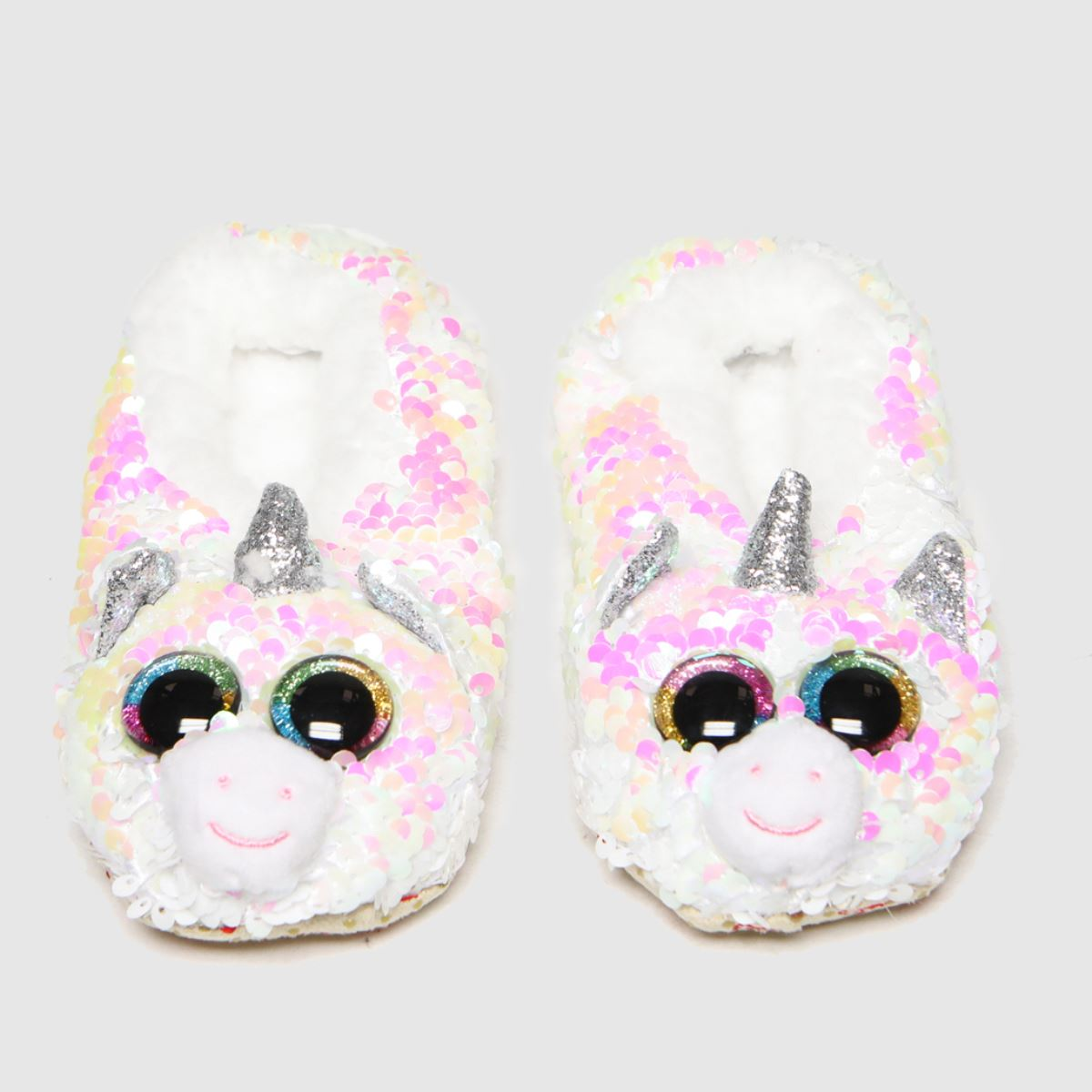 TyUK Silver Unicorn Slippers Junior