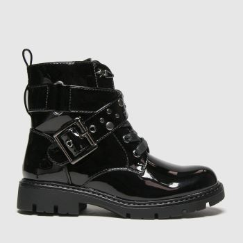 schuh Black Mystical Studded Buckle Girls Junior