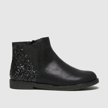 schuh Black Comet Glitter Chelsea Girls Junior