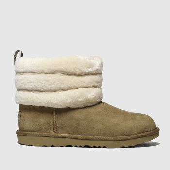 Ugg Tan Fluff Mini Quilted Girls Youth