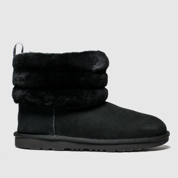 Ugg Black Fluff Mini Quilted Girls Youth
