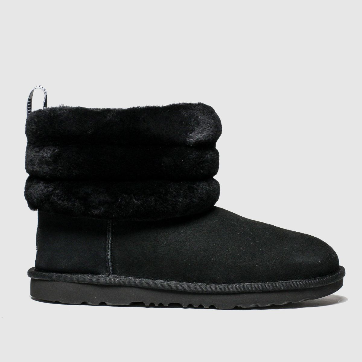 Ugg Black Fluff Mini Quilted Boots Youth