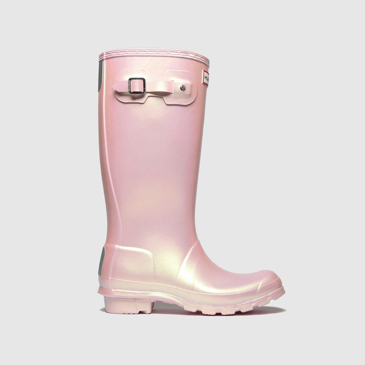 Hunter Pale Pink Original Nebula Boots Youth