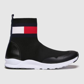 Tommy Hilfiger Black & White Bootie Sneaker Girls Youth#