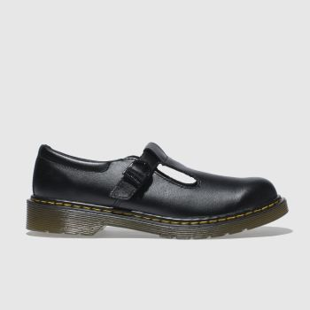 Dr Martens Black Polley Girls Youth