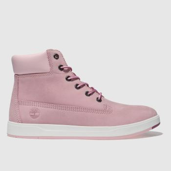 Timberland Pale Pink Davis Square 6inch Girls Youth