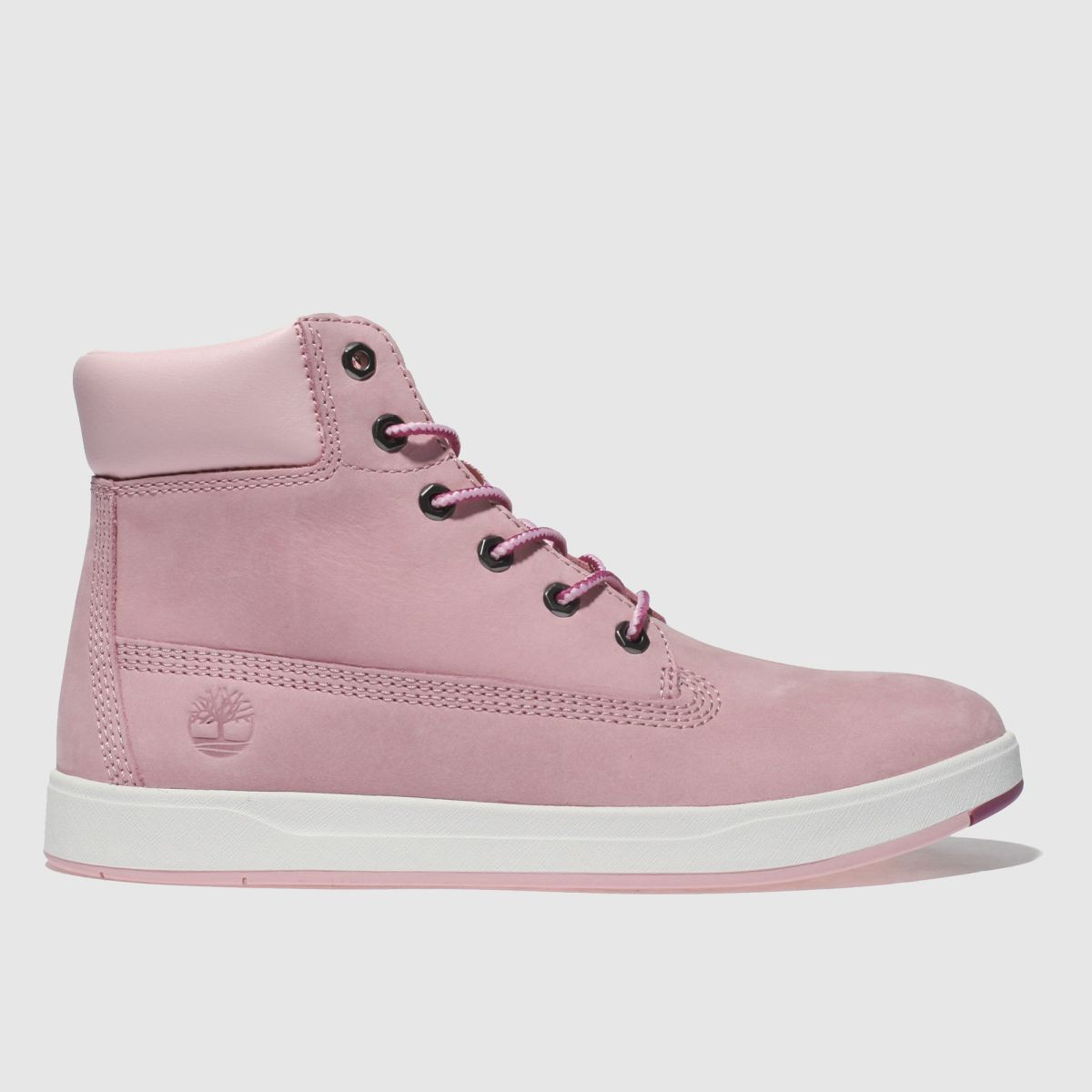 Timberland Pale Pink Davis Square 6inch Boots Youth