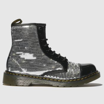Dr Martens Silver 1460 Pooch Sequin Girls Youth