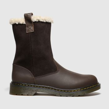 Dr Martens Dark Brown Juney Girls Youth