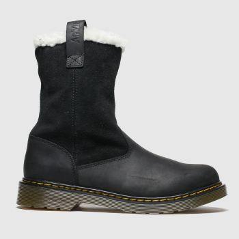 Dr Martens Black Juney Girls Youth