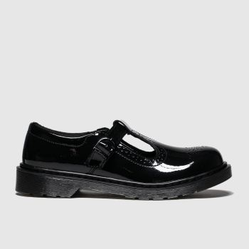 Dr Martens Black Polley Brogue Girls Youth