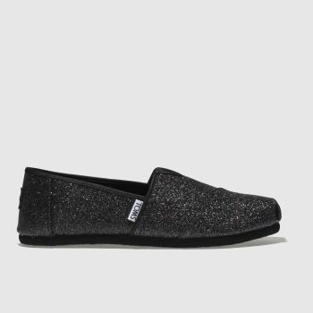 Toms Black Classic Girls Youth