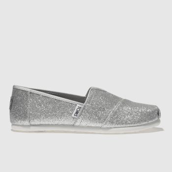 Toms Silver Classic Girls Youth