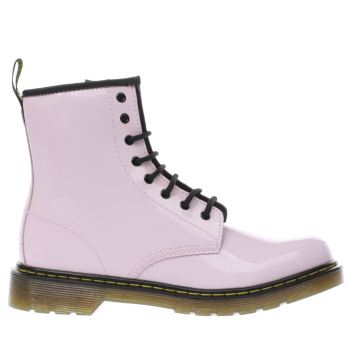 DR MARTENS PALE PINK DELANEY GIRLS YOUTH BOOTS