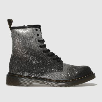 Dr Martens Black & Silver 1460 Glitter Girls Youth