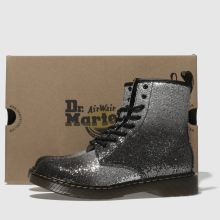 new york wholesale dealer exclusive deals dr martens black & silver 1460 glitter boots youth