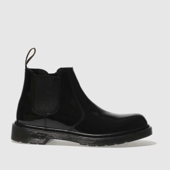 DR MARTENS BLACK 2976 GIRLS YOUTH BOOTS