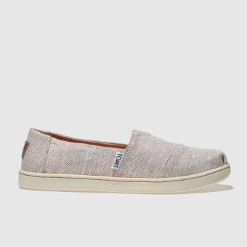 Toms Pale Pink Classic Girls Youth