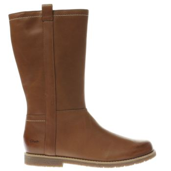 CLARKS TAN TILDY GRACE GIRLS YOUTH BOOTS