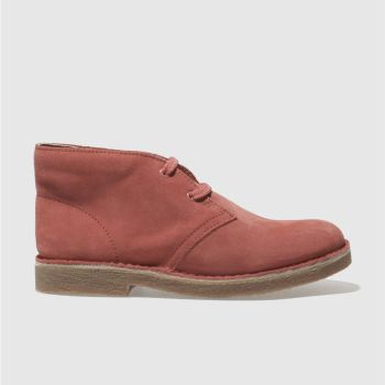CLARKS ORIGINALS PINK DESERT BOOT BOOTS YOUTH