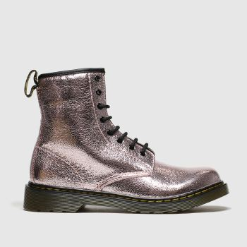 Dr Martens Pink 1460 Crinkle Metallic Girls Youth