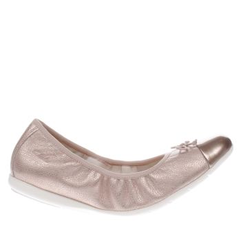 Clarks Dance Puff Girls Youth Rose Gold Pink