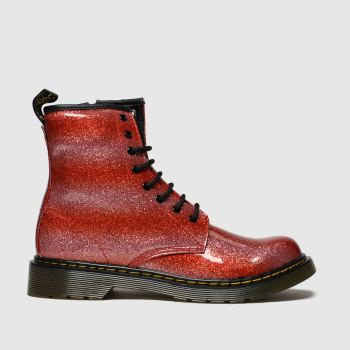Dr Martens Red 1460 Glitter Girls Youth