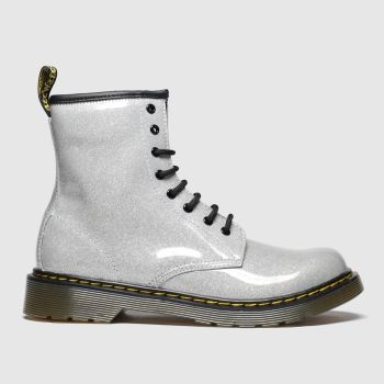 Dr Martens Silver 1460 Glitter Girls Youth