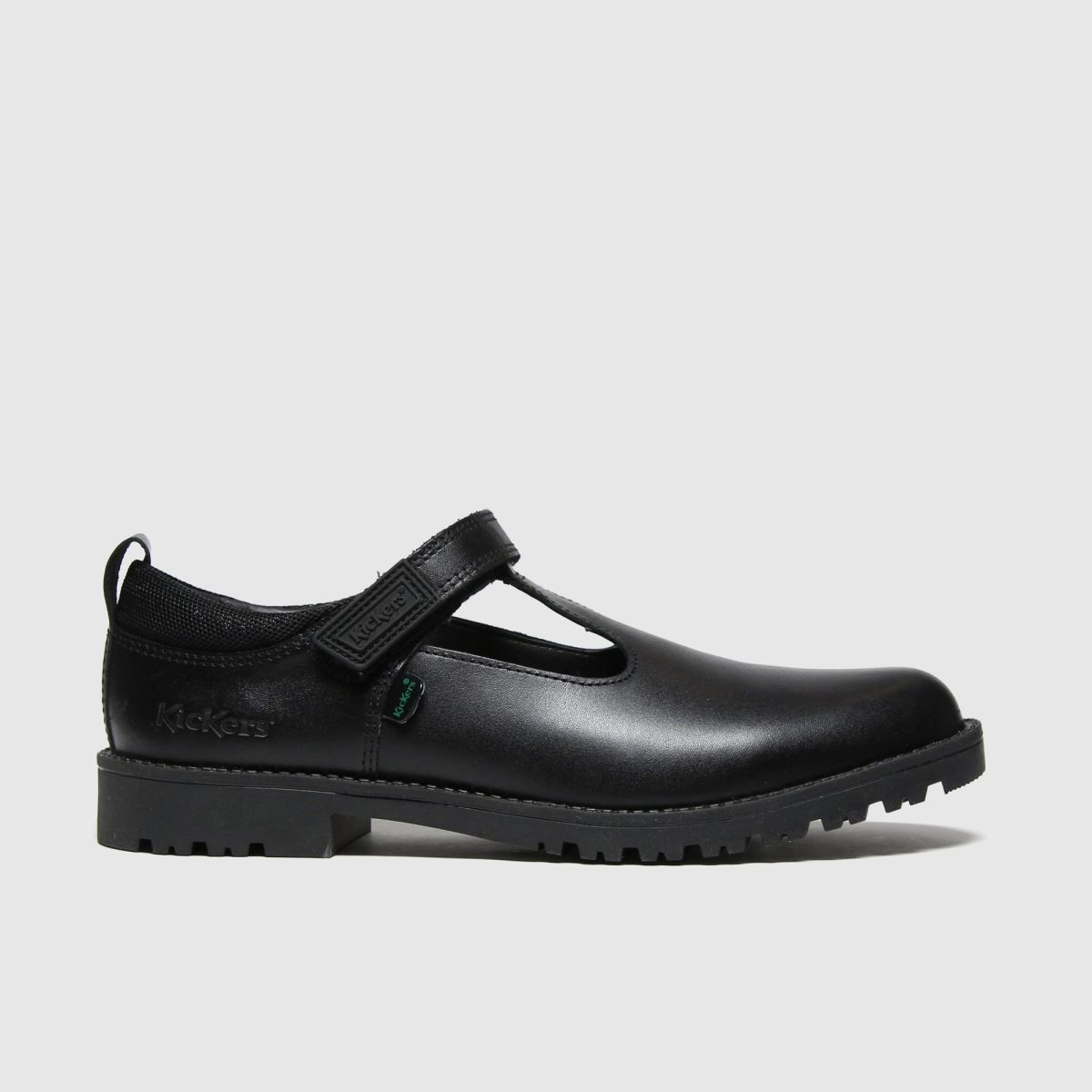 Kickers Black Lachly T Bar Boots Youth