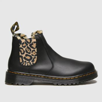 Dr Martens Black & Brown 2976 Leonore Girls Youth