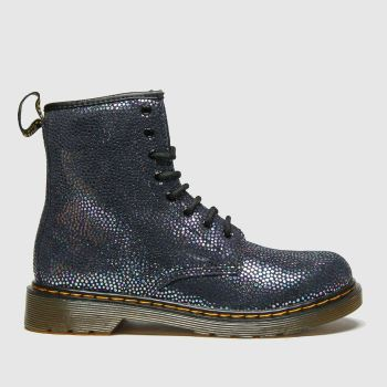 Dr Martens Navy & Silver 1460 Spot Girls Youth from Schuh