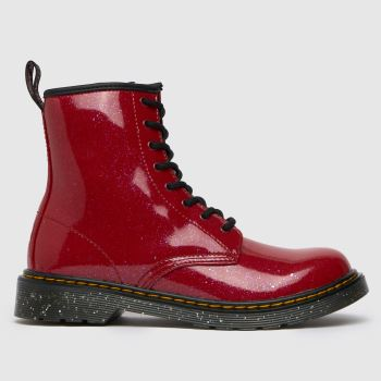 Dr Martens Red 1460 Cosmic Glitter Girls Youth