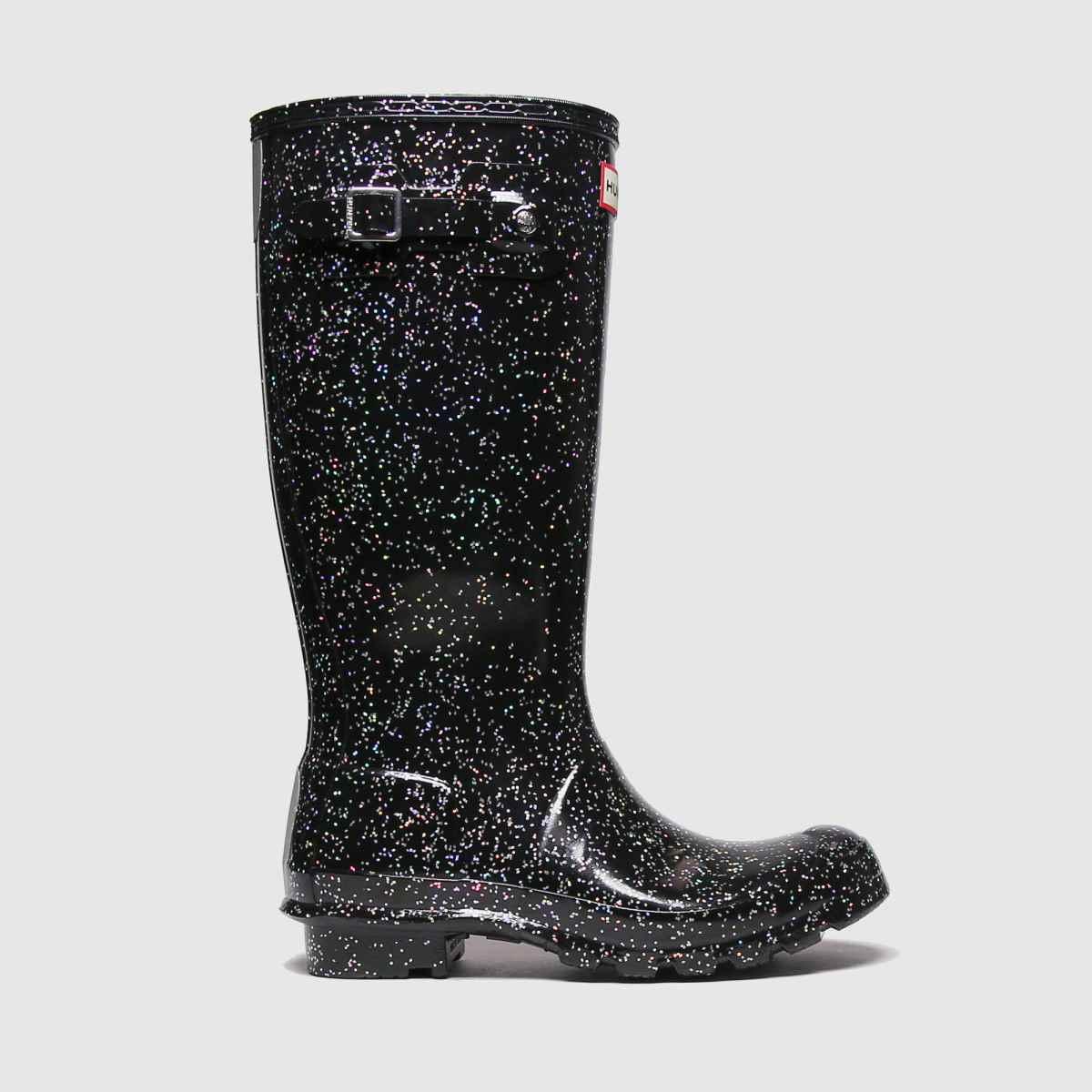 Hunter Black Giant Glitter Yth Boots Youth