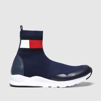 Tommy Hilfiger Navy & White Bootie Sneaker Girls Youth