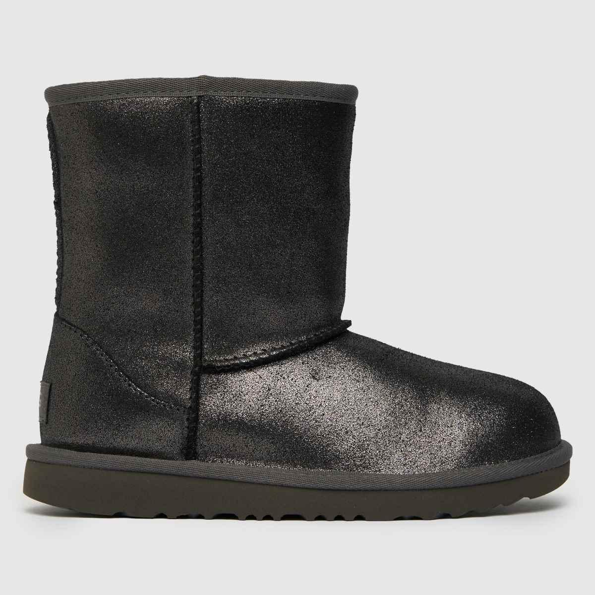 UGG Silver Classic Ii Metallic Yth Boots Youth
