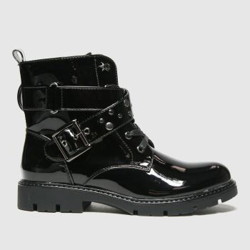 schuh Black Mystical Studded Buckle Girls Youth#