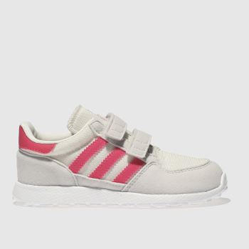 Adidas White & Pink Forest Grove Girls Toddler