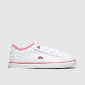 Lacoste White Lerond c2namevalue::Girls Toddler